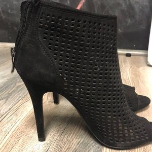 Chinese laundry stiletto booties with peep toe